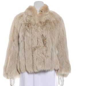 Cream Fur Fox Fur Jacket - L/XL
